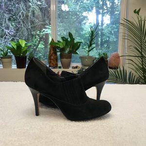Cole Haan (Nike Air) black suede booties